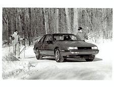 1987 Original Photo Chevrolet Beretta GT car auto in snowy weather conditions