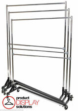 5ft Adjustable Height Double Rail Z Rack| Black Base