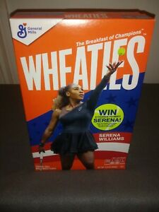 BRAND NEW Wheaties Cereal  Serena  Williams Tennis FULL BOX