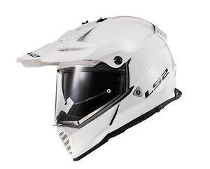 LS2 Blaze Solid Dual Sport Helmet Gloss White
