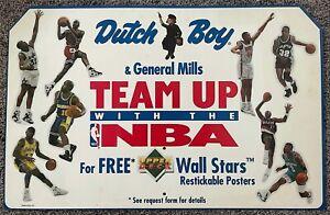 Vintage NBA Advertising Signed Michael Jordan & MORE Dutch Boy Upper Deck
