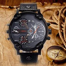 Luxuriös Herren Armbanduhr Datum Edelstahl Leder Militär Armee Armbanduhren Neu