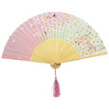 spitze Bambus Faltbar Handfaecher N1v6 rosa