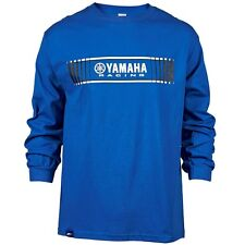 Yamaha Men's Tracks Speed Block L/S T-Shirt in Yamaha Blue - Size Large - New