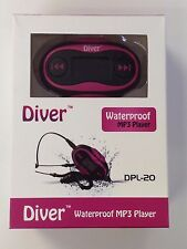 Waterproof MP3 Player. LCD. Swim. FM Radio. USB IPX8 4GB Pink Refurbished.