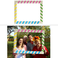 Multicolour Selfie Picture Frame Photo Booth Props Wedding Hen Christmas Party