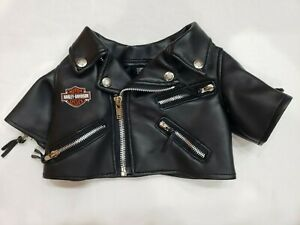 Harley Davidson Pet Dog Cat Faux Leather Jacket Black XS Zippers  Costume