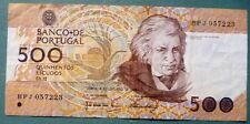 PORTUGAL 500 ESCUDOS NOTE ISSUED 04.10 1989, P 180 c