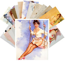 Postcards Pack [24 crd] Pinup Sexy Girl Lingerie Stockings Willis Vintage CC1042