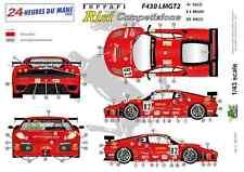 """[FFSMC Productions] Decals 1/43 Ferrari F-430 LMGT2 """"Team RISI"""" (LM 2008)"""