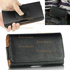 PU Leather Belt Clip Loop Hip Holster Flip Case Cover Pouch For LG Phone Models