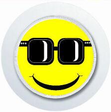 Cool Sonriente cara con gafas de sol impuesto sobre automóviles Portadisco Reutilizable