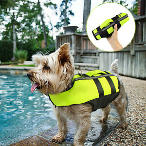 Pet Outdoor Safety Dog Life Jacket Life Preservers Inflatable Vest Swimsuit
