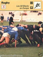 FICHE CARD : FRANCE - ALL BLACKS 1977 VICTOIRE DEFAITE  RUGBY 70s
