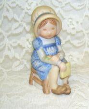 Holly Hobbie Figurine Girl Sitting in Chair
