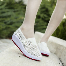 Women's Shake Shoes Sneakers Slip On Mesh Breathable Thick Platform Casual NEW