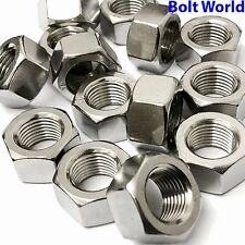 """UNF FINE THREAD 1/4"""", 5/16"""", 3/8"""", 1/2"""", 5/8"""" A2 STAINLESS FULL HEXAGONAL NUTS"""