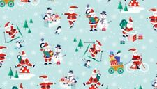 Makower - Christmas - Jolly Santa Scenic - 100% cotton Fabric Patchwork Quilting