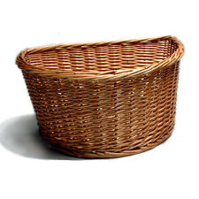 "Wicker Bicycle Basket - 16"" D Shape Bike basket - Traditional cycle basket"
