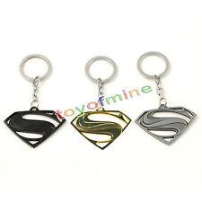 New Key Ring Classic Superman S logo Metal Key Chain Keyrings Chain