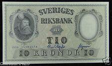 Sweden BANKNOTE 10 Kronor 1958 UNC