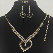Holiday or Prom Austrian Crystal Necklace Bracelet & Earrings Set