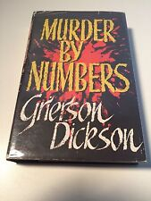 MURDER BY NUMBERS Grier Dickson - Uncommon Classic about Serial Killers1st/1st