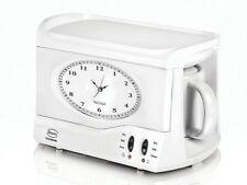 Swan Teasmade Teasmaid Tea Maker Kettle Made Maid Coffee Clock Light Alarm coffe