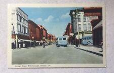 Vintage color postcard, George Street, Peterborough, Ontario