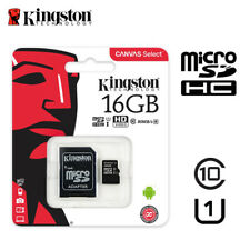 Kingston 16GB Micro SD SDHC Class10 C10 U1 Memory Card TF 80MB /s R with Adapter