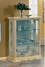 Amalfi  Luxury Italian Small 2 Door Glass Display Cabinet