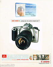 PUBLICITE ADVERTISING 065  2001  CANON  appareil photo  EOS 3000 N
