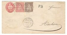 Very old postage letter with stamps, Helvetia - Franko , USED