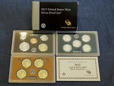 2012 United States Mint Silver Proof Set w/COA - Free Shipping USA