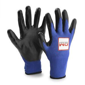 Online Magnets branded Nylon Nitrile coated Magnet Fishing Gloves 13 Gauge