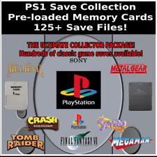 PS1 Save Collection | 125+ Saves | 100% Complete | PlayStation Memory Card