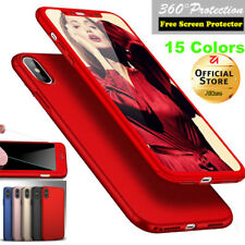 iPhone X 6 7 8 Plus Ultra-Thin Shockproof Hard Case Cover Tempered Glass F Apple