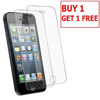 100% Genuine Tempered Glass LCD Screen Protector for Apple iPhone 5S 5C SE x 2Pc