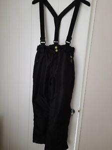 Mountain Warehouse Kids Black Ski Trouser Salopettes Size 9-10 Yrs