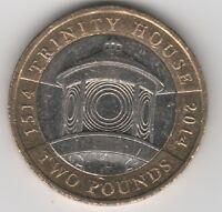RARE £2 COIN 2014 TRINITY HOUSE
