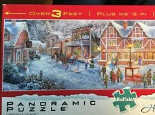 Buffalo Panoramic Puzzle Christmas Village 750 Piece Holiday Collection 38x11