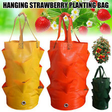 Garden Hanging Grow Bag Plant Pouch Tomato Strawberry Planter Flower Herb Bags