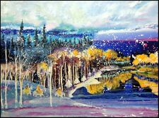 """Earl Biss """"Early Snow On The Beartooth Range"""" Serigraph on Paper Hand Signed"""