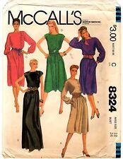 McCall's Sewing Pattern Women's LONG OR SHORT DRESS 8324 Size 12 UNCUT