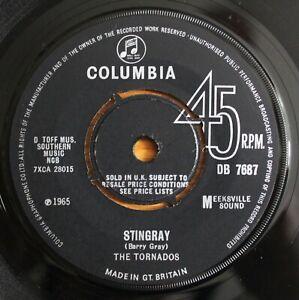"THE TORNADOS Stingray / Aqua Marina 7"" JOE MEEK RGM Columbia DB 7687 NMINT 1965"