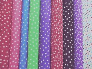 Polycotton Fabric NEW Crafts MINI SMALL STARS Metre Material Special Offer