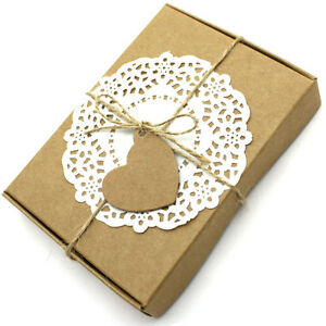 Handcrafted Rectangular 'Love Heart' Kraft Card Gift Boxes For Wedding birthday