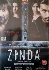ZINDA - NEW ORIGINAL EROS BOLLYWOOD DVD - SUNJAY DUTT, CELINA JAITLEY, LARA D.