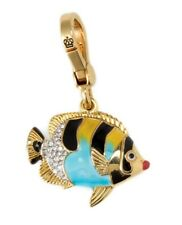 JUICY COUTURE Striped Fish Charm Enamel Crystals NEW in BOX Retired