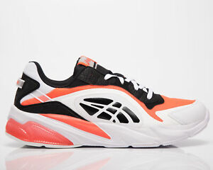 Asics Gel-Miqrum Men's Black Sunrise Red White Casual Lifestyle Sneakers Shoes